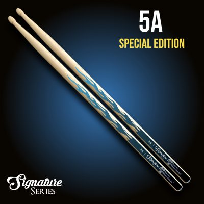 London Drumstick Co. BlackBlue Flames Special Edition