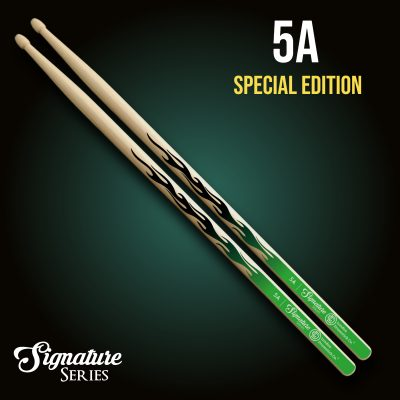 London Drumstick Co. GreenBlack Flames Special Edition